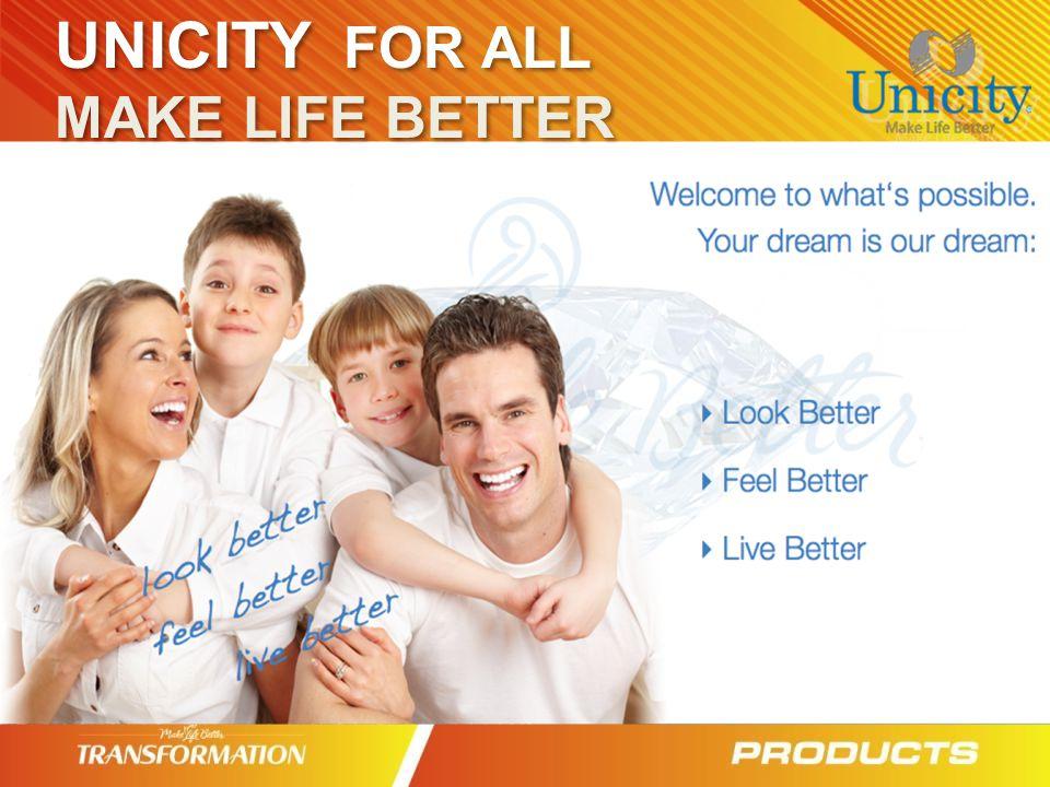 UNICITY FOR ALL MAKE LIFE BETTER