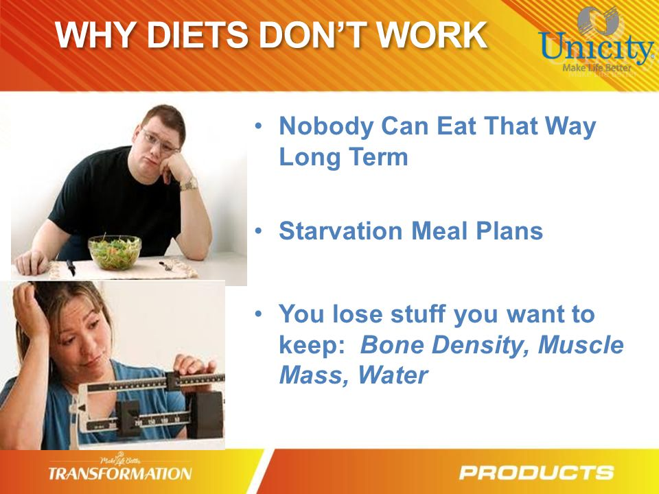 WHY DIETS DON'T WORK Nobody Can Eat That Way Long Term
