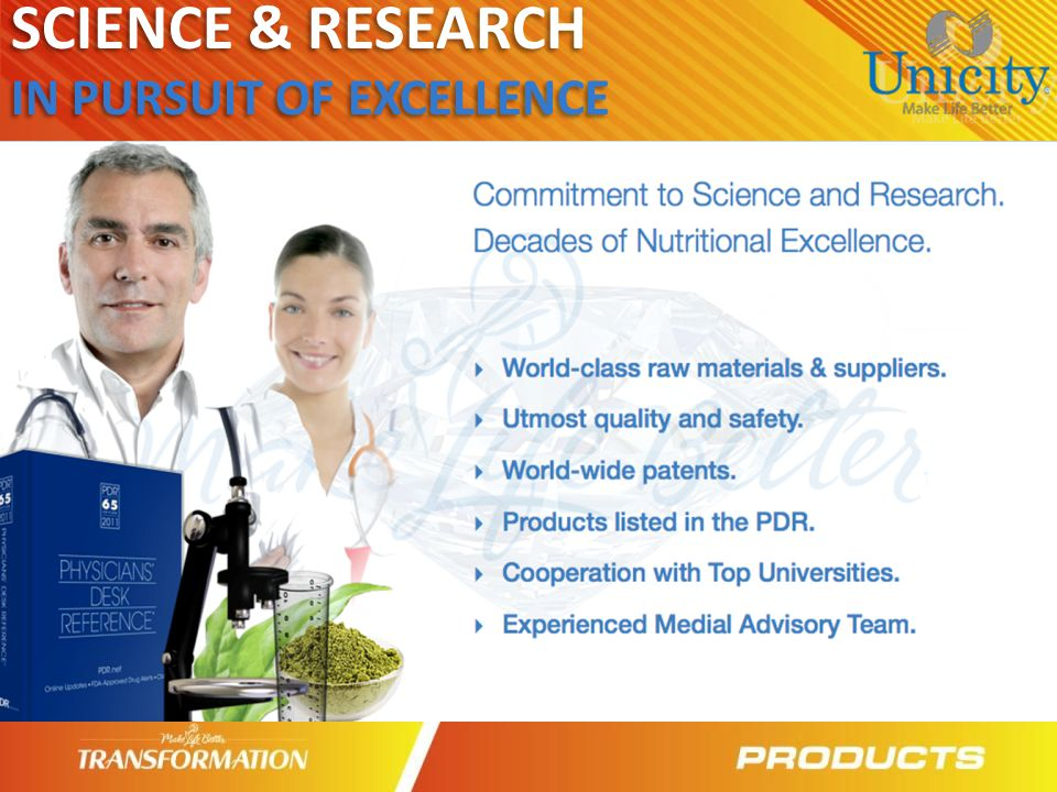 SCIENCE & RESEARCH IN PURSUIT OF EXCELLENCE