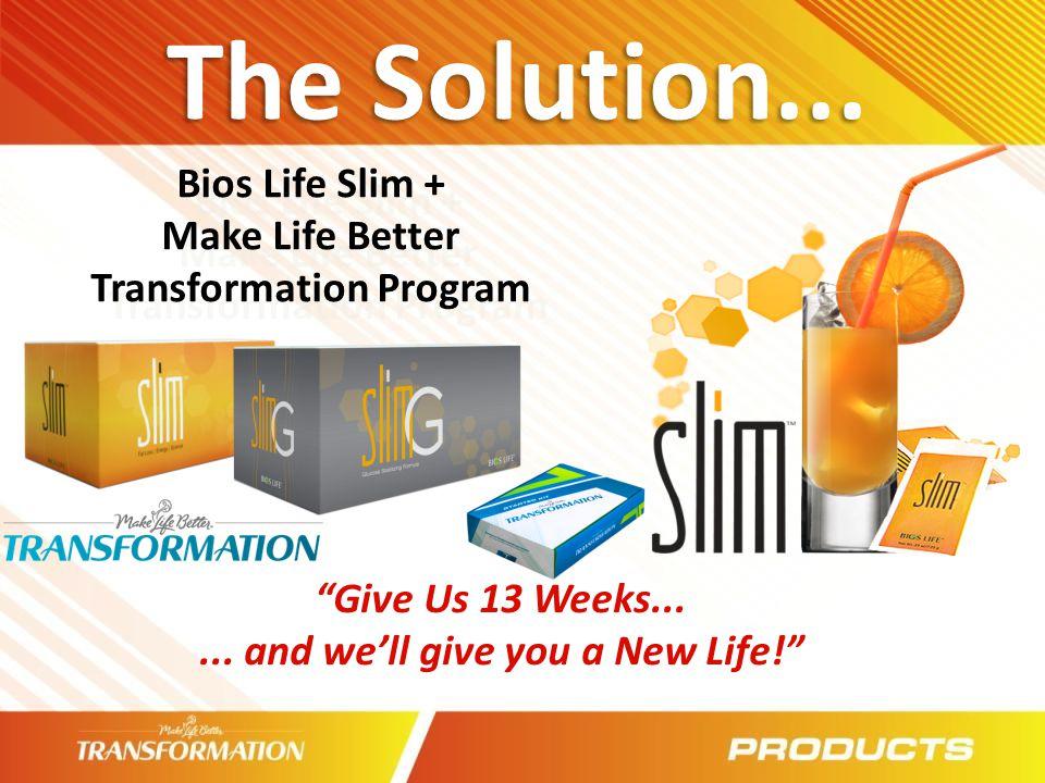 The Solution... Bios Life Slim +