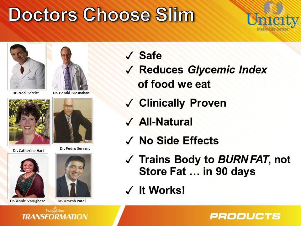 Doctors Choose Slim Safe Reduces Glycemic Index of food we eat