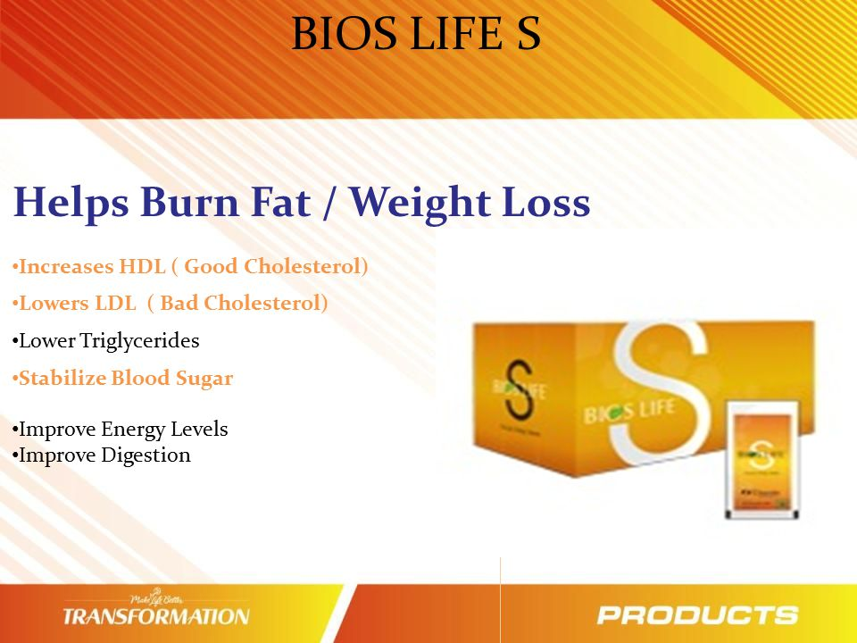 BIOS LIFE S Helps Burn Fat / Weight Loss