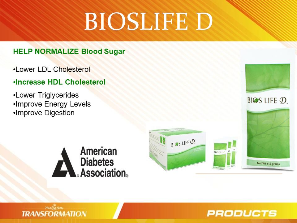 BIOSLIFE D HELP NORMALIZE Blood Sugar Lower LDL Cholesterol