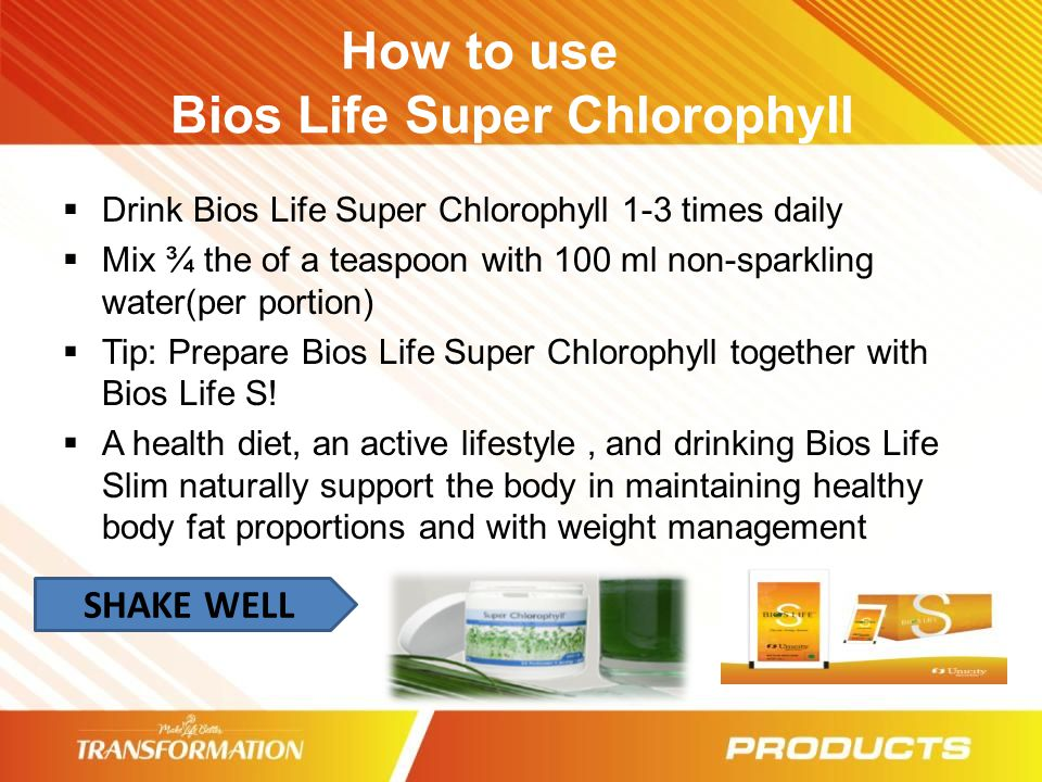 How to use Bios Life Super Chlorophyll