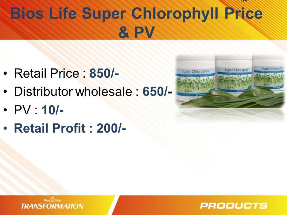 TM Bios Life Super Chlorophyll Price & PV