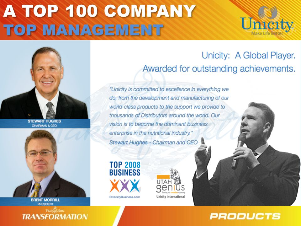 A TOP 100 COMPANY TOP MANAGEMENT