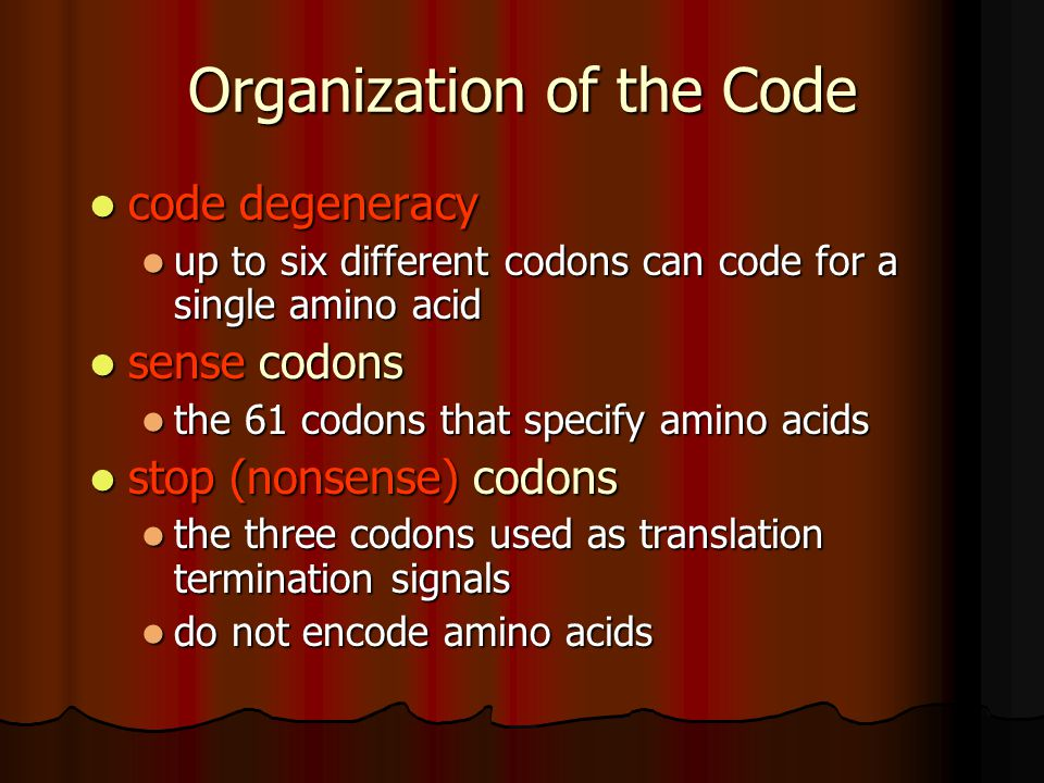 Organization of the Code