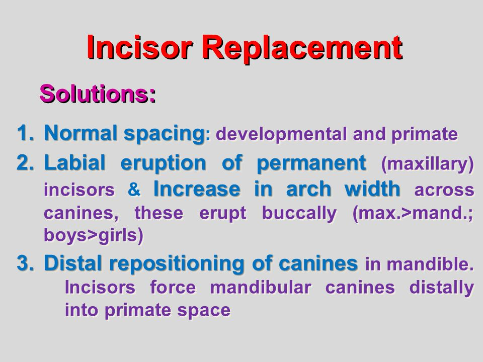 Incisor Replacement Solutions: