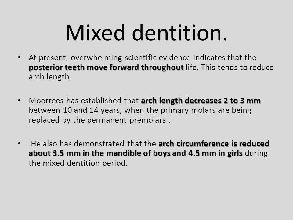 Mixed dentition.