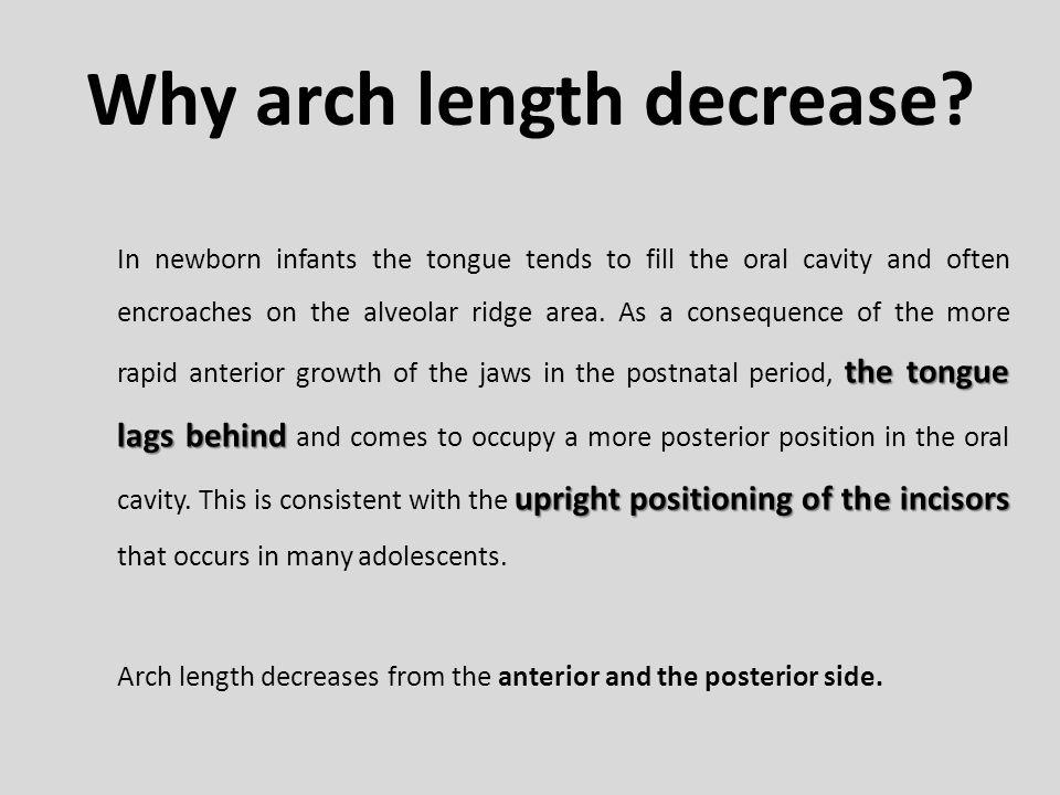 Why arch length decrease