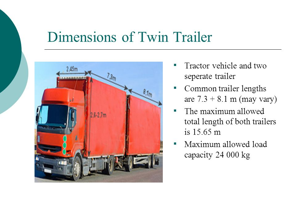 Dimensions of Twin Trailer