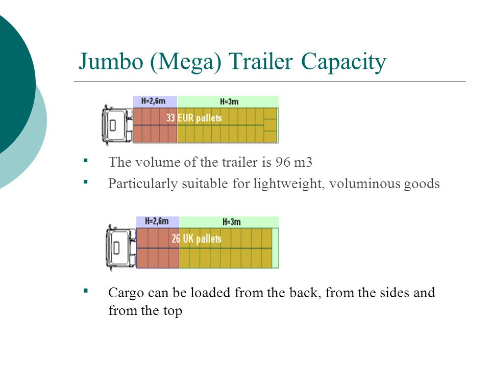 Jumbo (Mega) Trailer Capacity