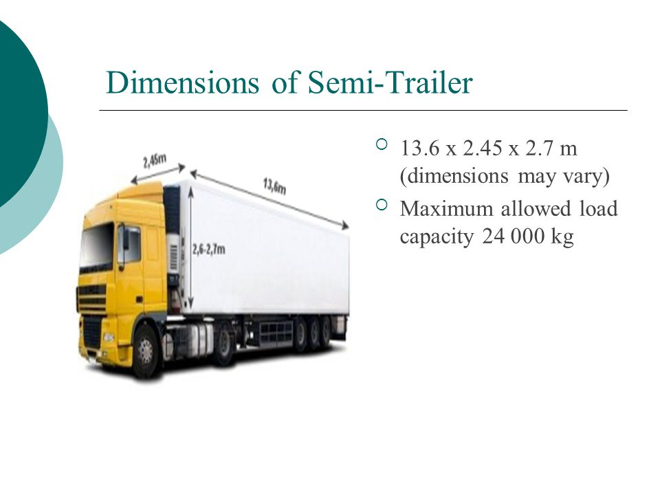 Dimensions of Semi-Trailer