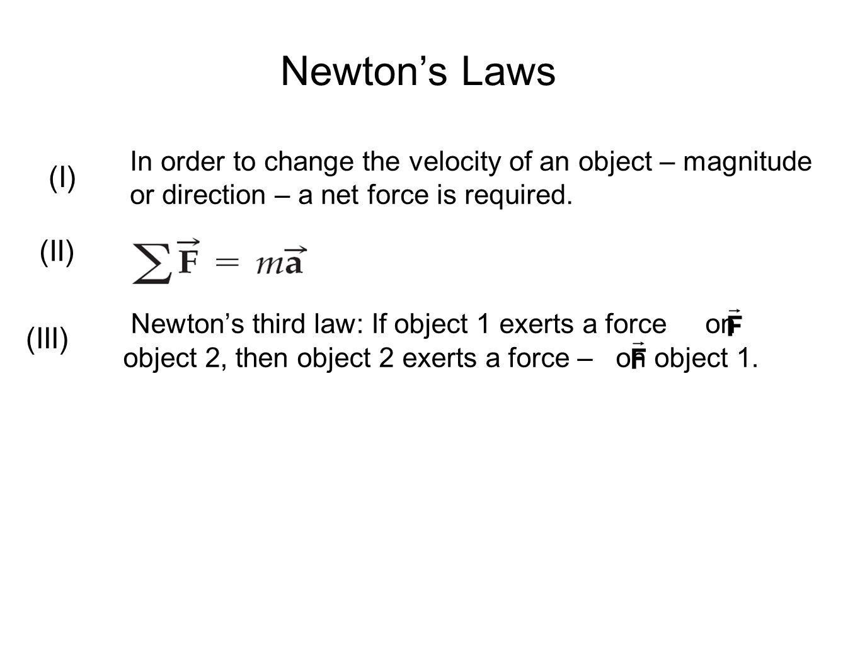 Newton's Laws (I) (II) (III)