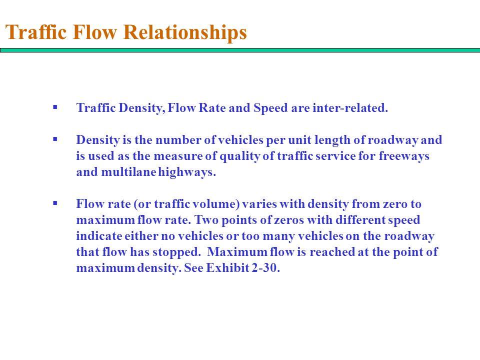 Traffic Flow Relationships