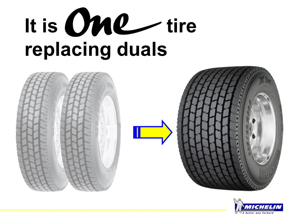 It is tire replacing duals