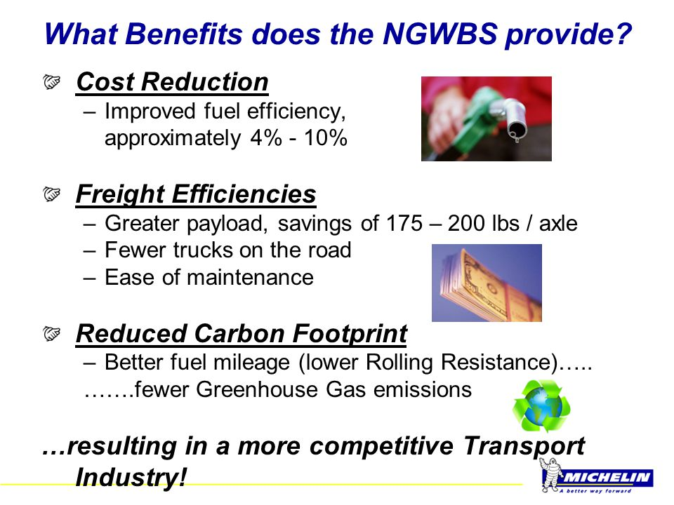 What Benefits does the NGWBS provide