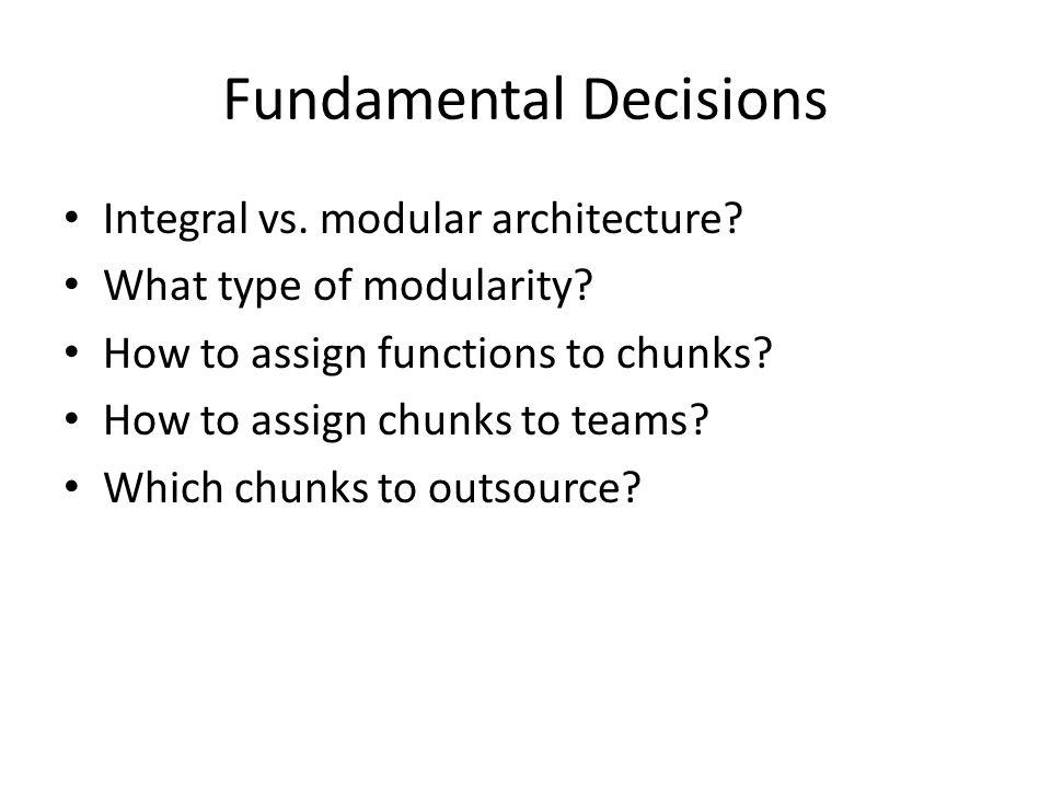 Fundamental Decisions