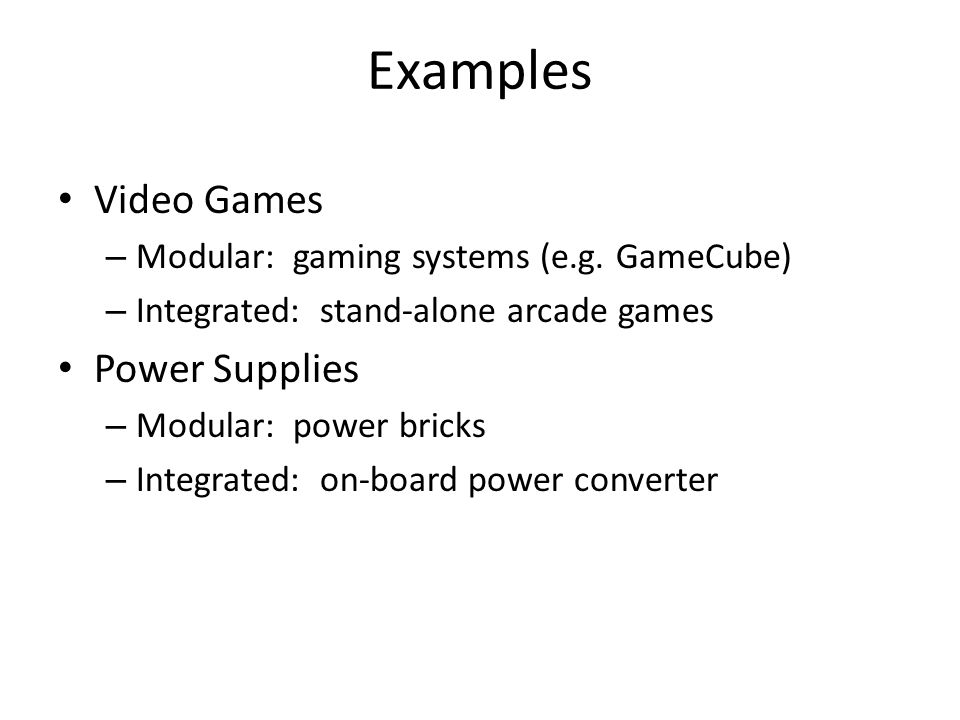 Examples Video Games Power Supplies