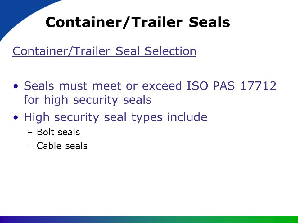 Container/Trailer Seals