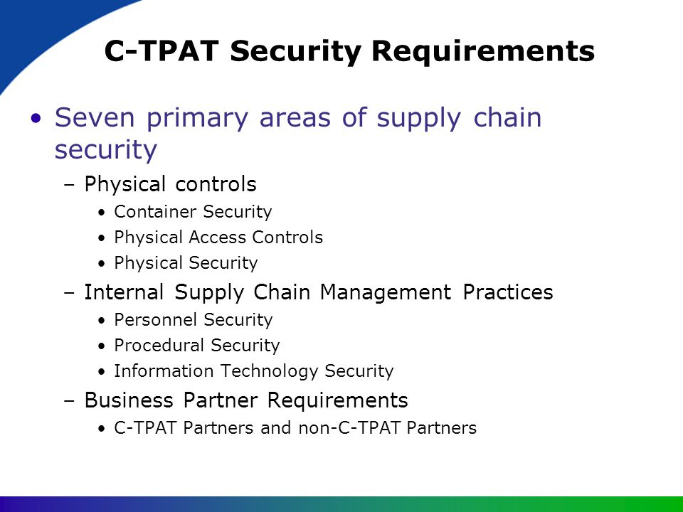 C-TPAT Security Requirements