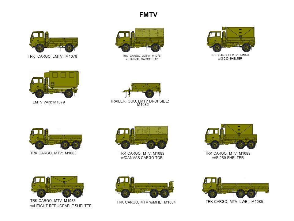 FMTV TRK CARGO, LMTV: M1078 LMTV VAN: M1079