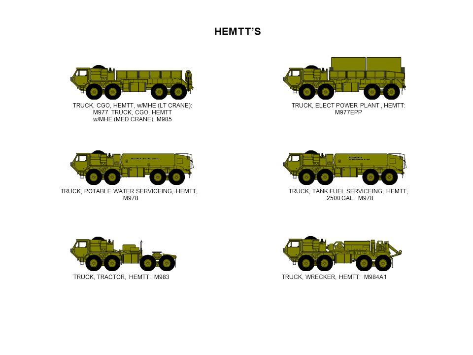 HEMTT'S TRUCK, CGO, HEMTT, w/MHE (LT CRANE): M977 TRUCK, CGO, HEMTT