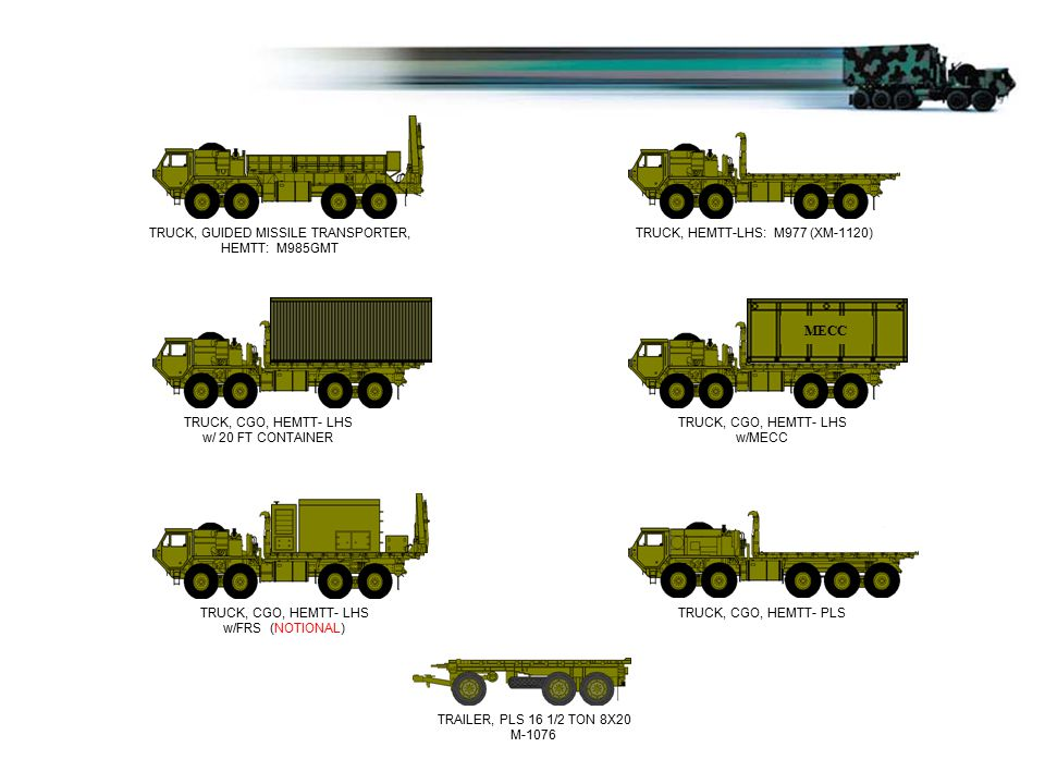 TRUCK, GUIDED MISSILE TRANSPORTER, HEMTT: M985GMT