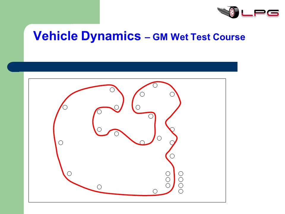 Vehicle Dynamics – GM Wet Test Course