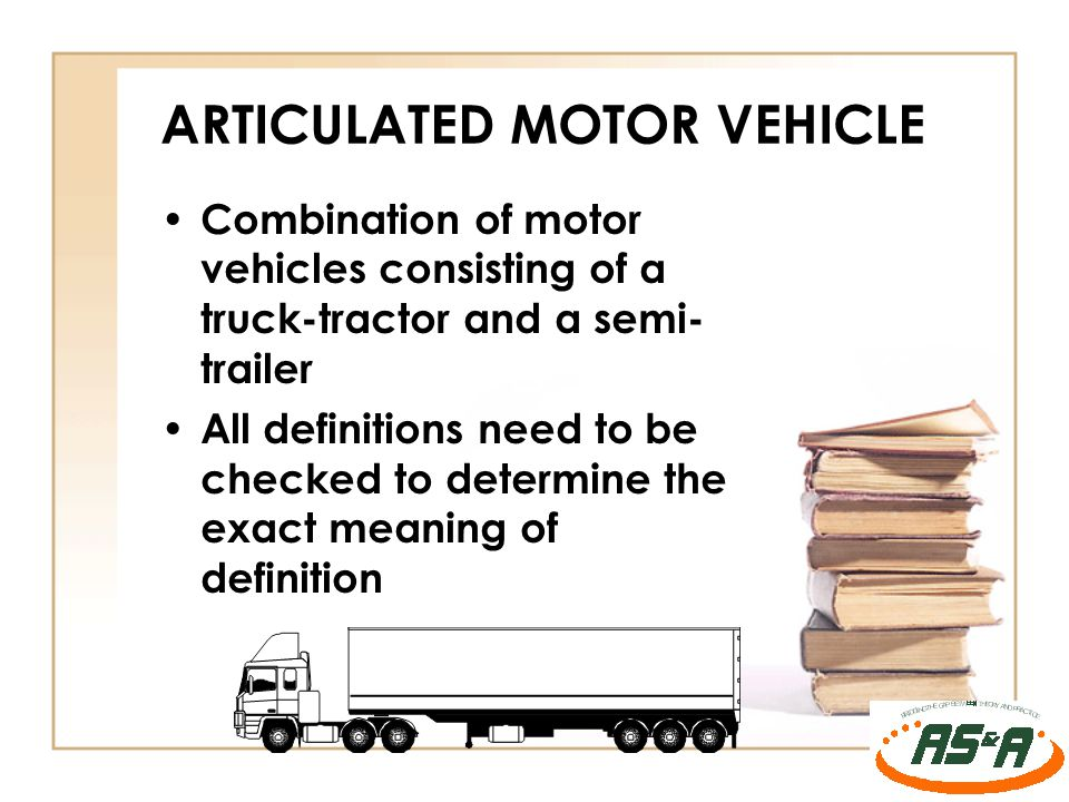 ARTICULATED MOTOR VEHICLE