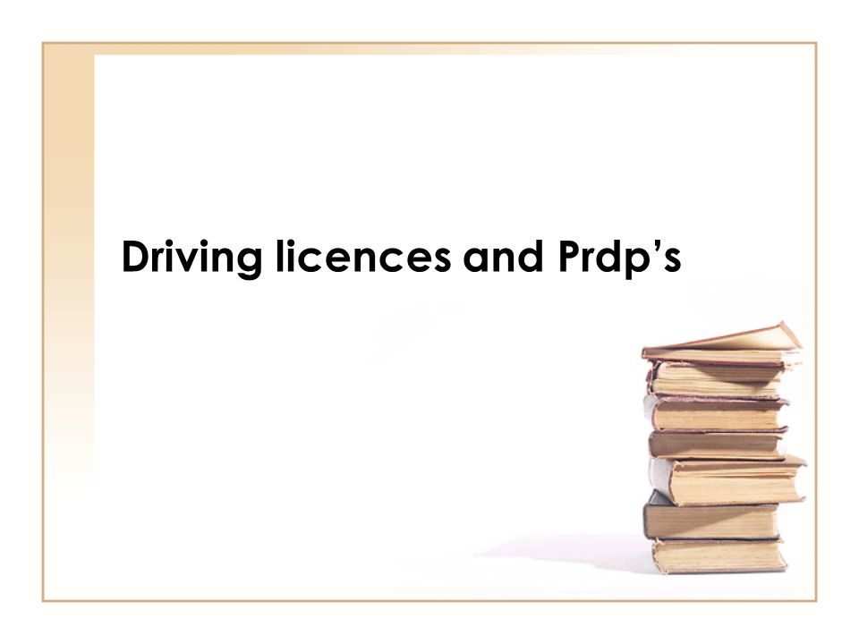 Driving licences and Prdp's