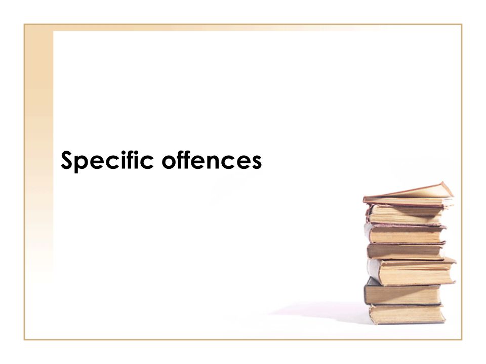Specific offences