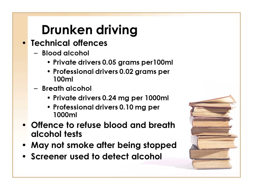 Drunken driving Technical offences