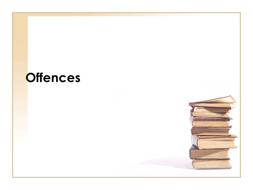 Offences