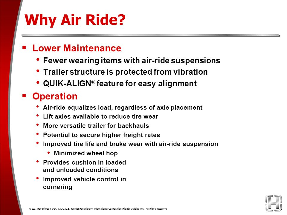 Why Air Ride Lower Maintenance Operation