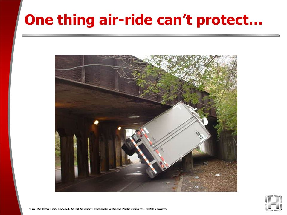 One thing air-ride can't protect…