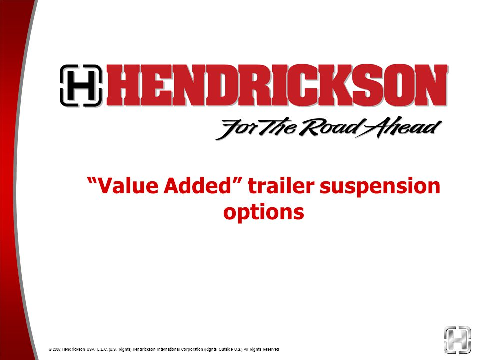 Value Added trailer suspension options