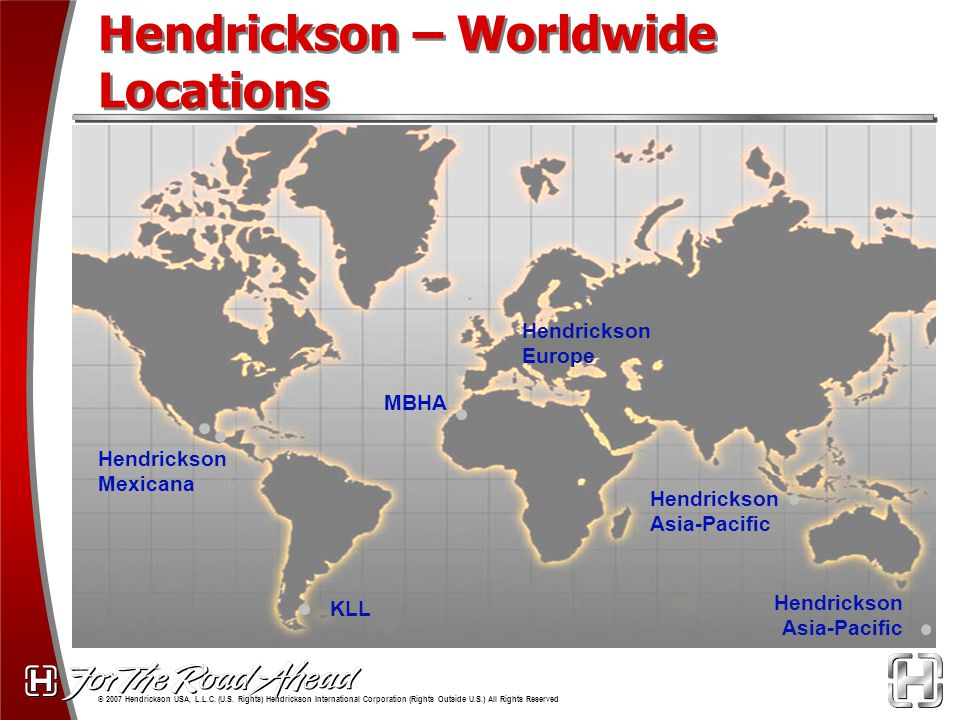 Hendrickson – Worldwide Locations