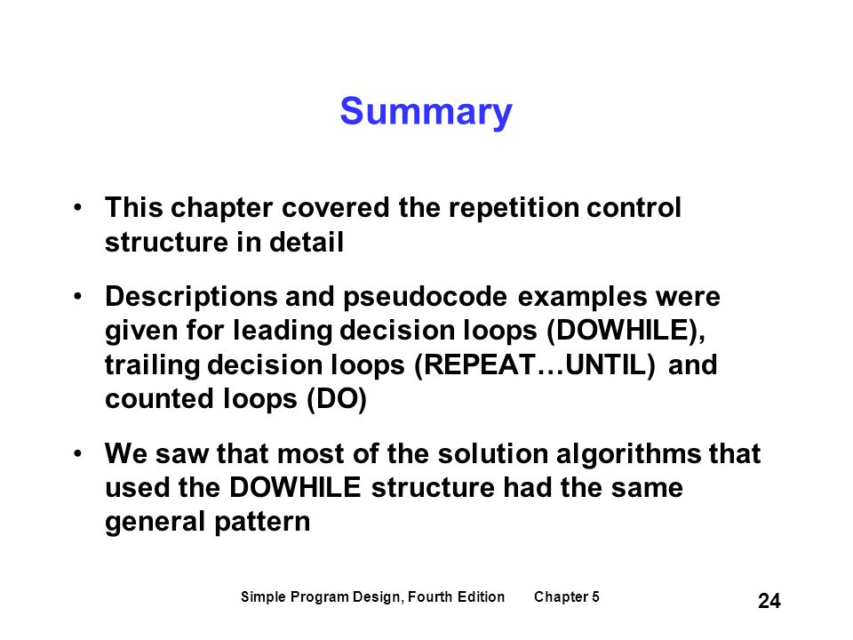 Simple Program Design, Fourth Edition Chapter 5