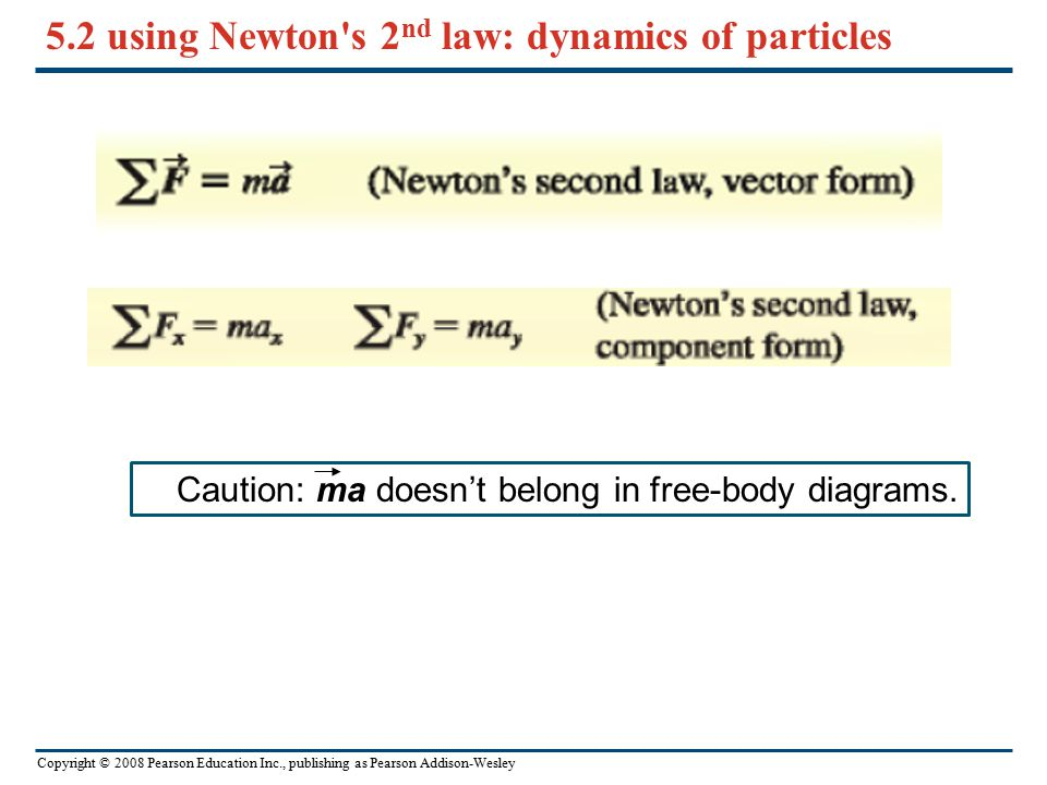 5.2 using Newton s 2nd law: dynamics of particles