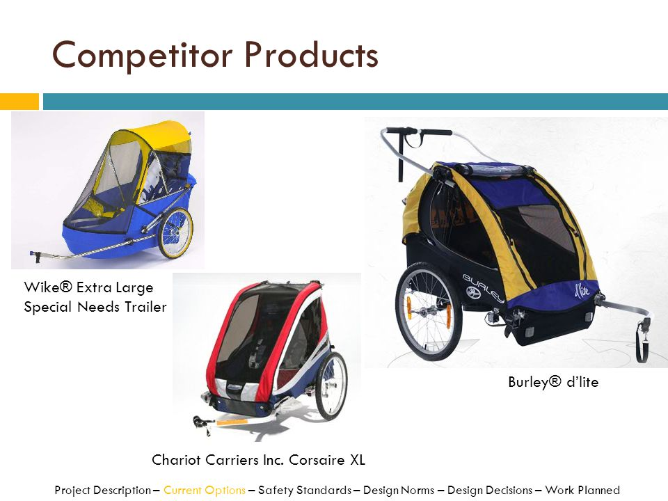 Competitor Products Wike® Extra Large Special Needs Trailer
