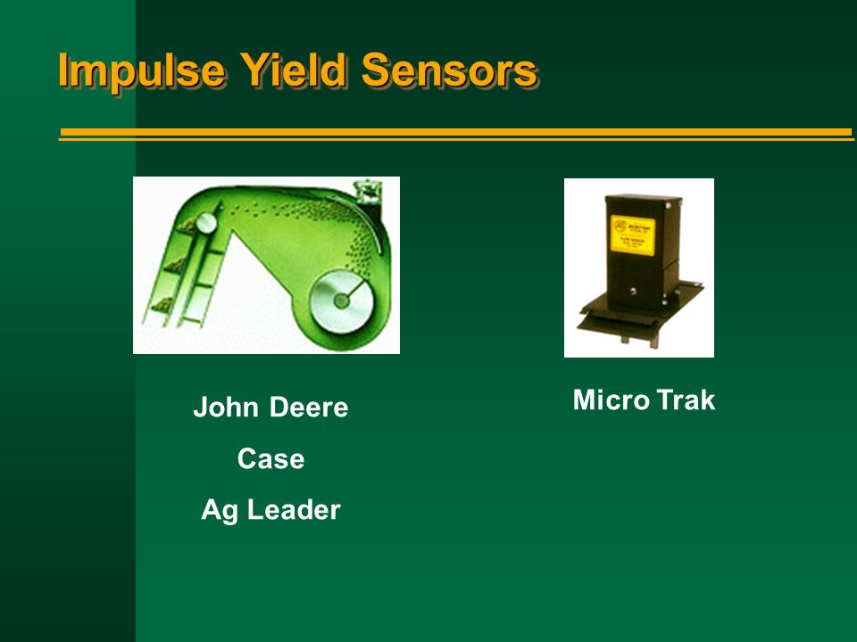 Impulse Yield Sensors Micro Trak John Deere Case Ag Leader