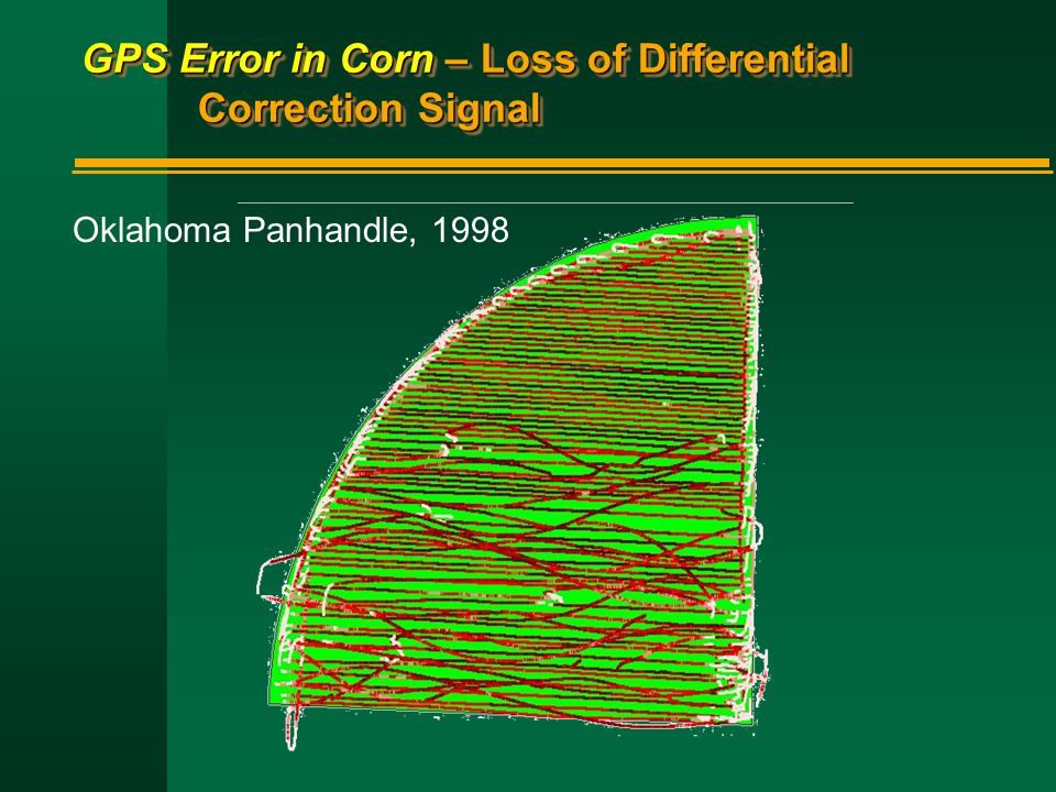 GPS Error in Corn – Loss of Differential Correction Signal