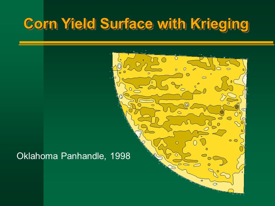 Corn Yield Surface with Krieging