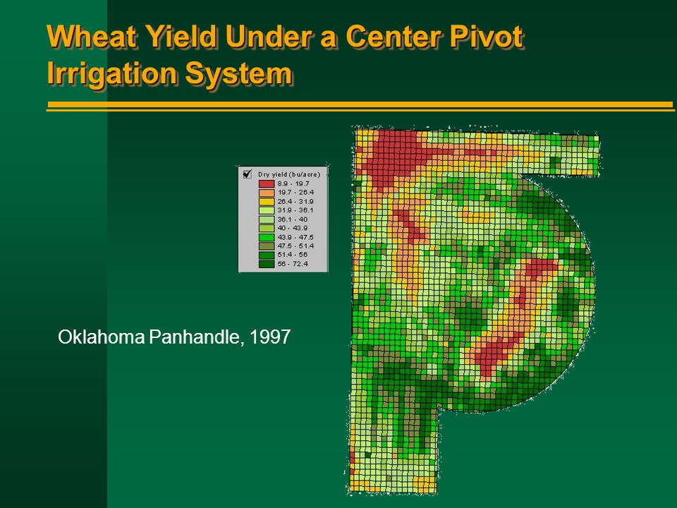 Wheat Yield Under a Center Pivot Irrigation System