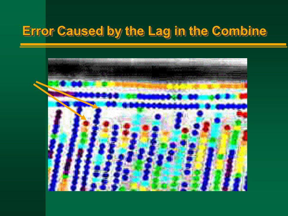 Error Caused by the Lag in the Combine