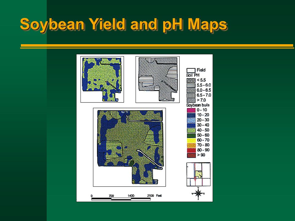 Soybean Yield and pH Maps