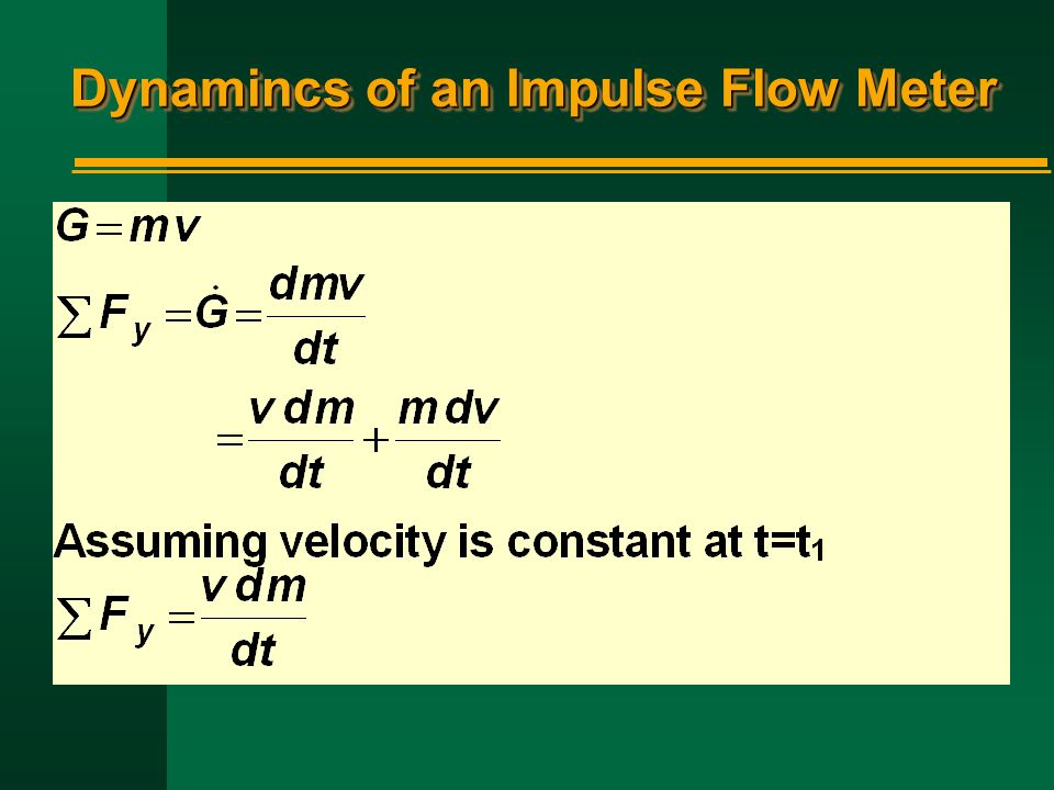Dynamincs of an Impulse Flow Meter