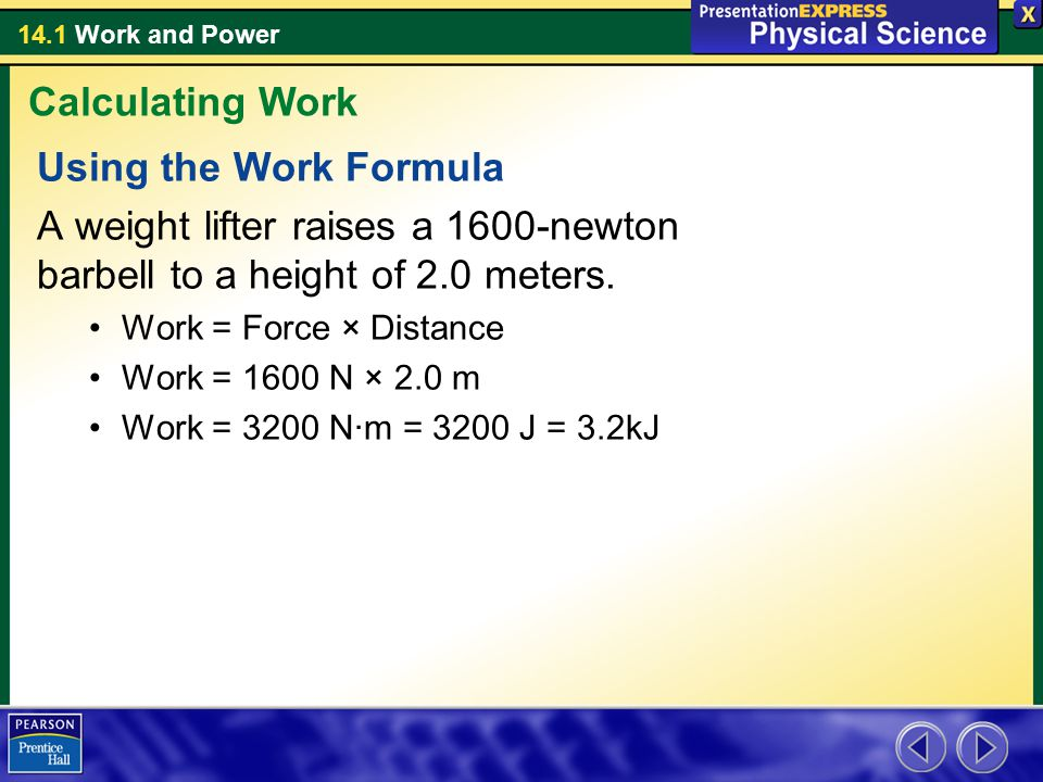 Calculating Work Using the Work Formula