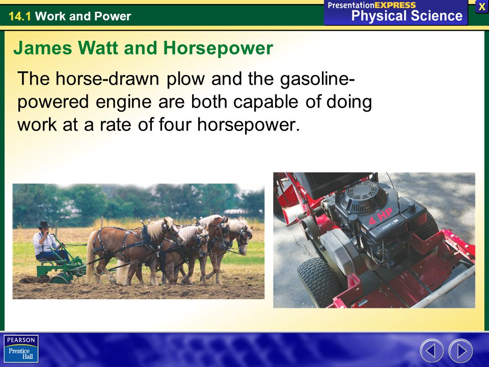 James Watt and Horsepower